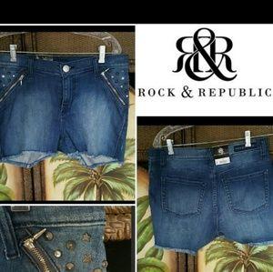 Rock& republic bling shorts nwt
